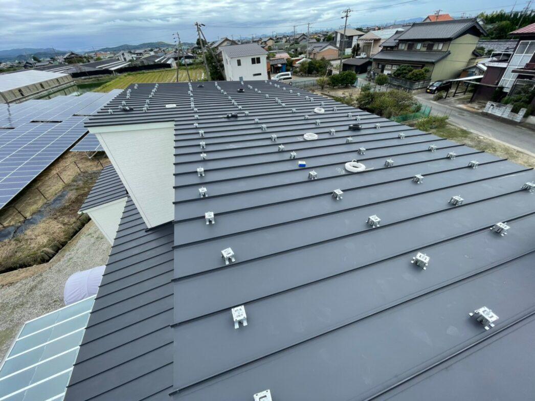 滋賀県Canadian Solar太陽光発電システムCS3L-375MS施工前の写真
