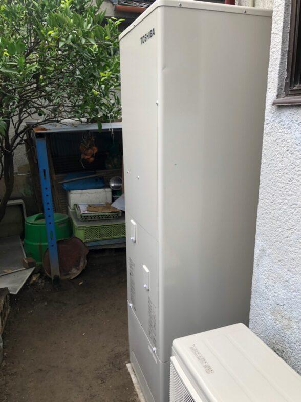 愛知県東芝エコキュートHWH-B466HA施工後の写真