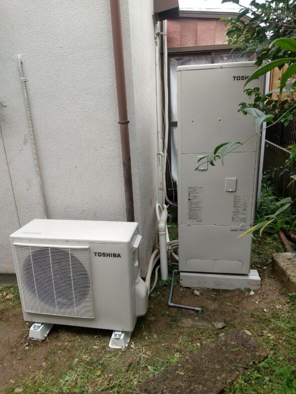 愛知県東芝エコキュートHWH-F376H施工後の写真