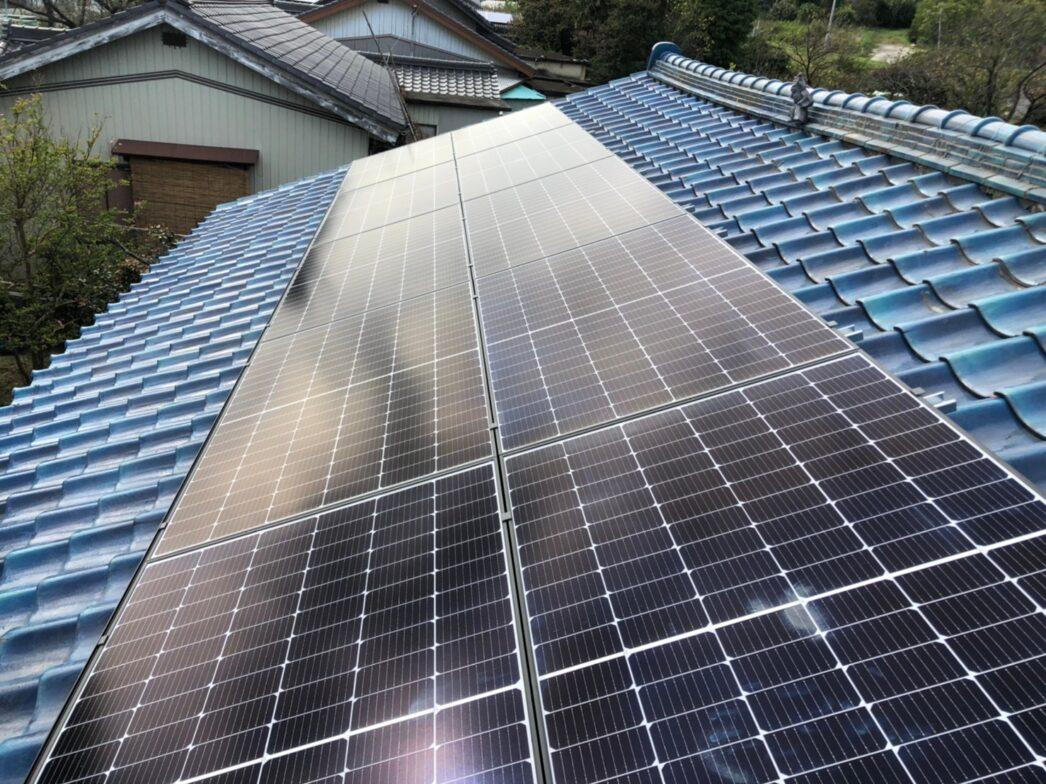 兵庫県Canadian Solar太陽光発電システムCS3L-375MS施工後の写真