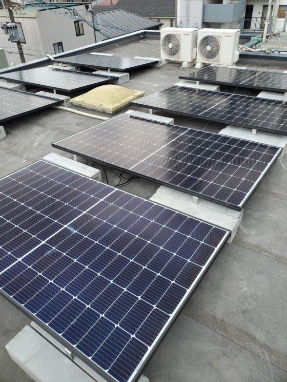 愛知県Canadian Solar太陽光発電システムCS3L-375MS施工後の写真