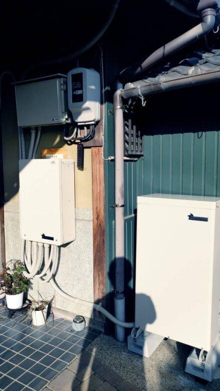 岐阜県田淵電機蓄電システム(アイビス7)CS-TL70-GF施工後の写真