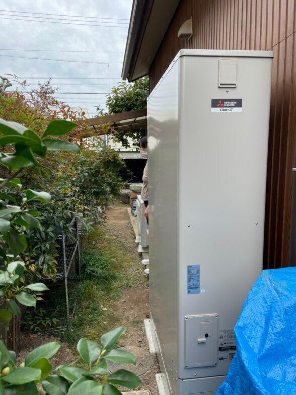 三重県三菱エコキュートSRT-S375UZ施工後の写真