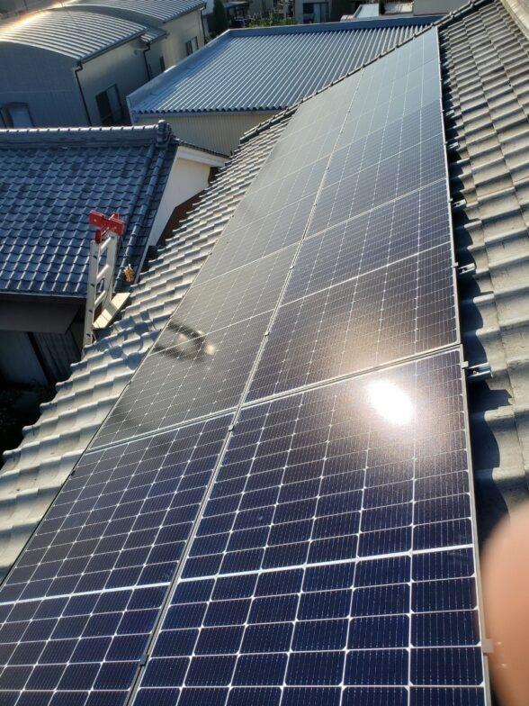 三重県Canadian Solar太陽光発電システムCS3L-375MS施工後の写真