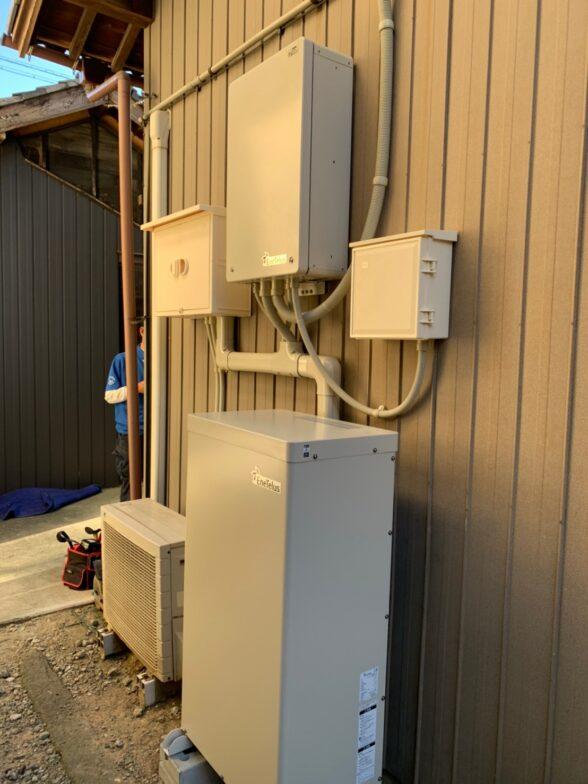 愛知県Canadian Solar蓄電システム(EIBS7)CS-TL70-GF施工後の写真