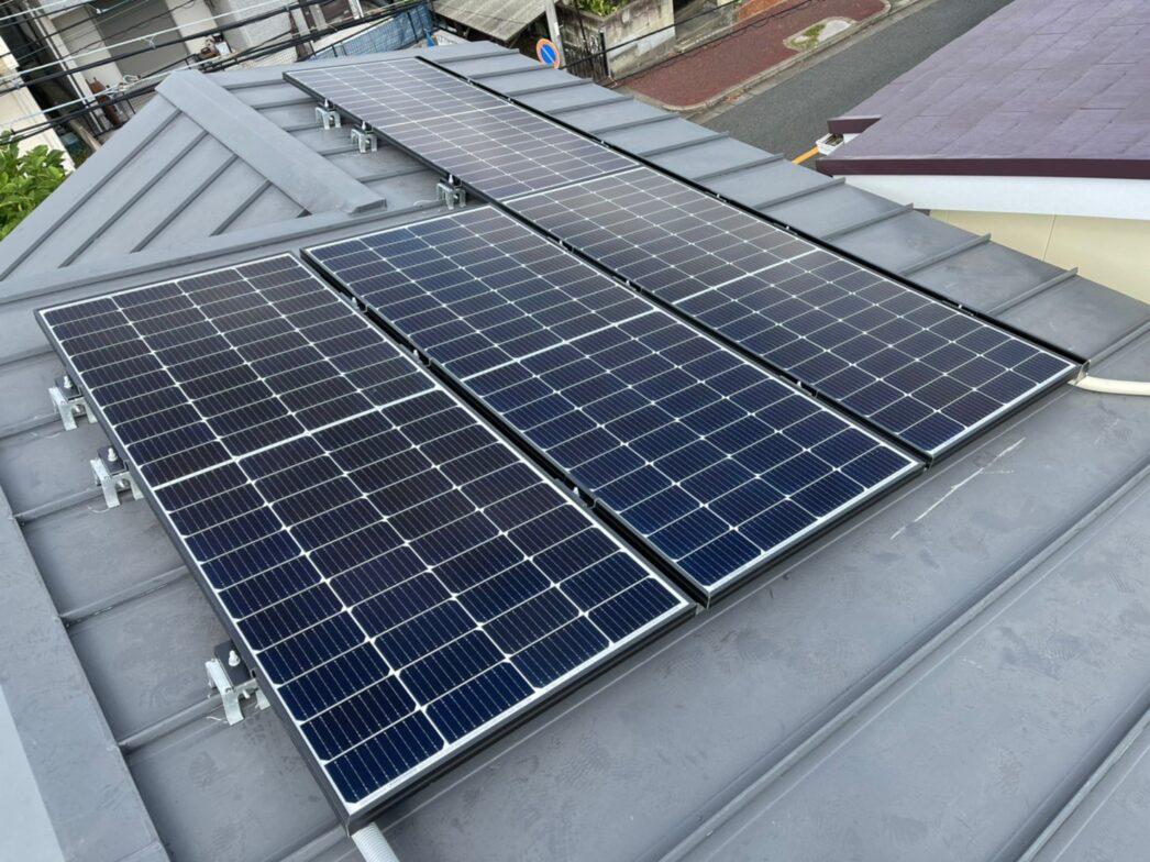 岐阜県Canadian Solar太陽光発電システムCS3L-375MS施工前の写真