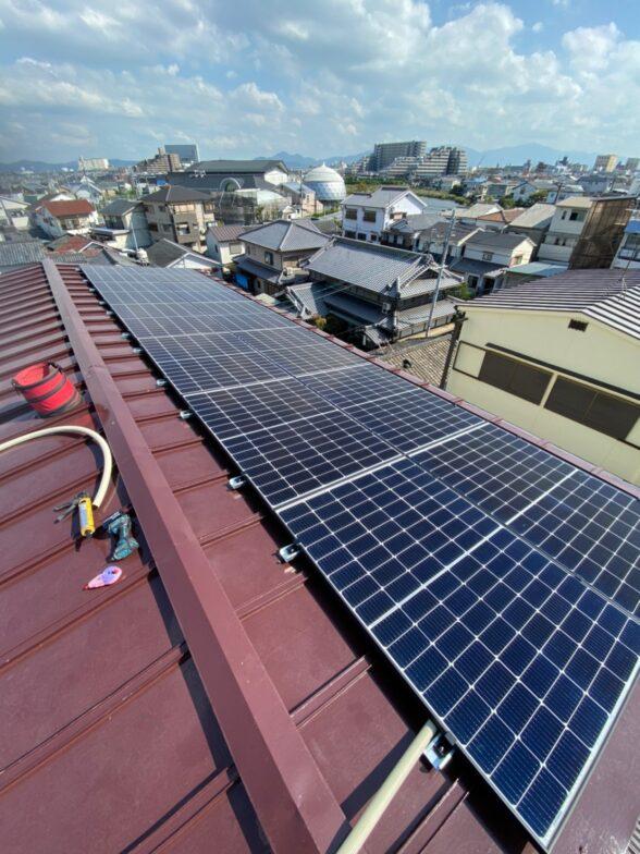 岐阜県Canadian Solar太陽光発電システムCS3L-375MS施工後の写真
